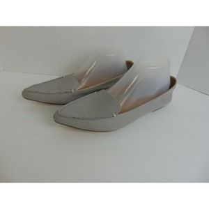 J. Crew Shoes Edie Leather Pointed Toe Flats Gray